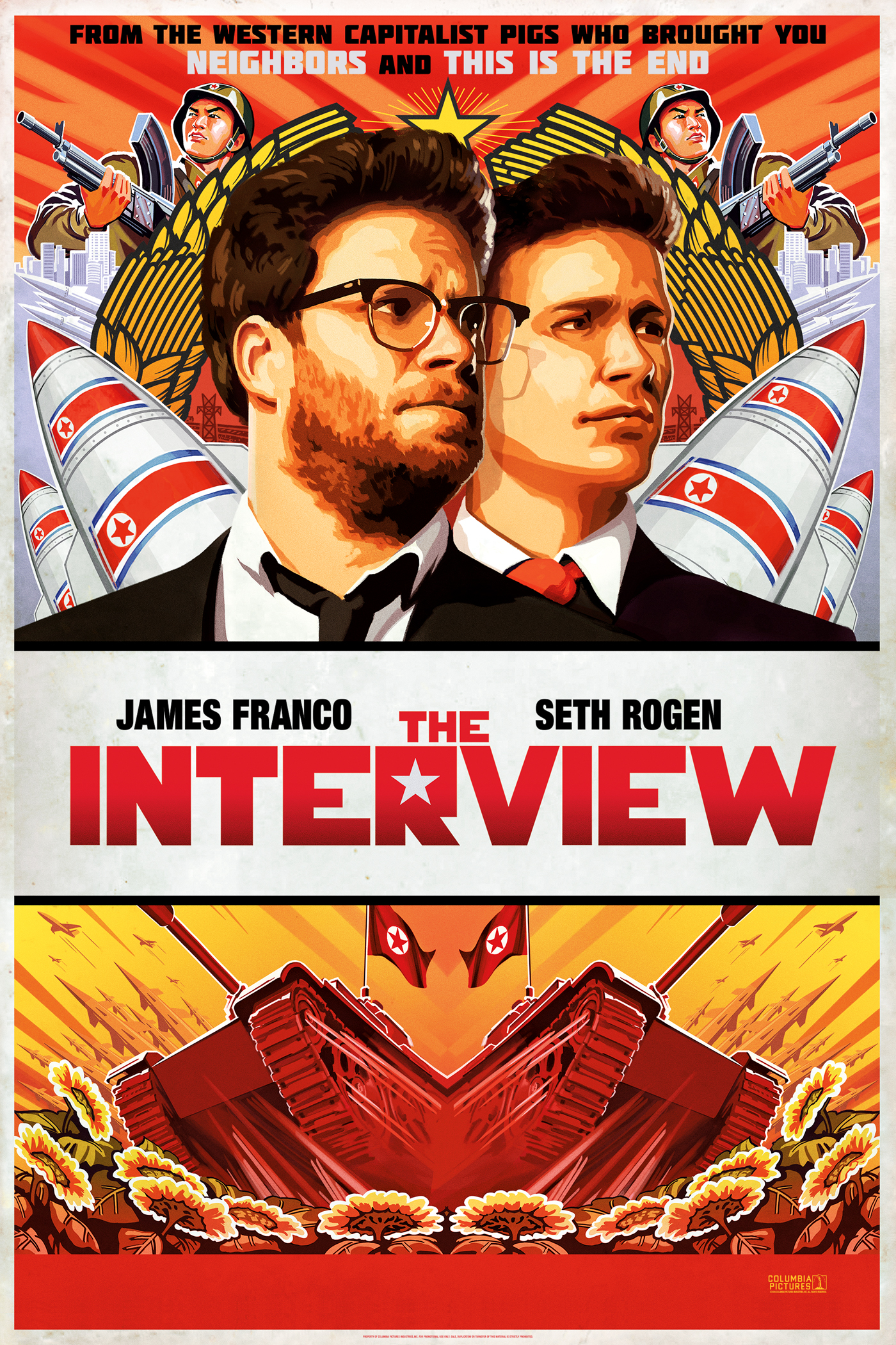 "cover design for ""The Interview"""