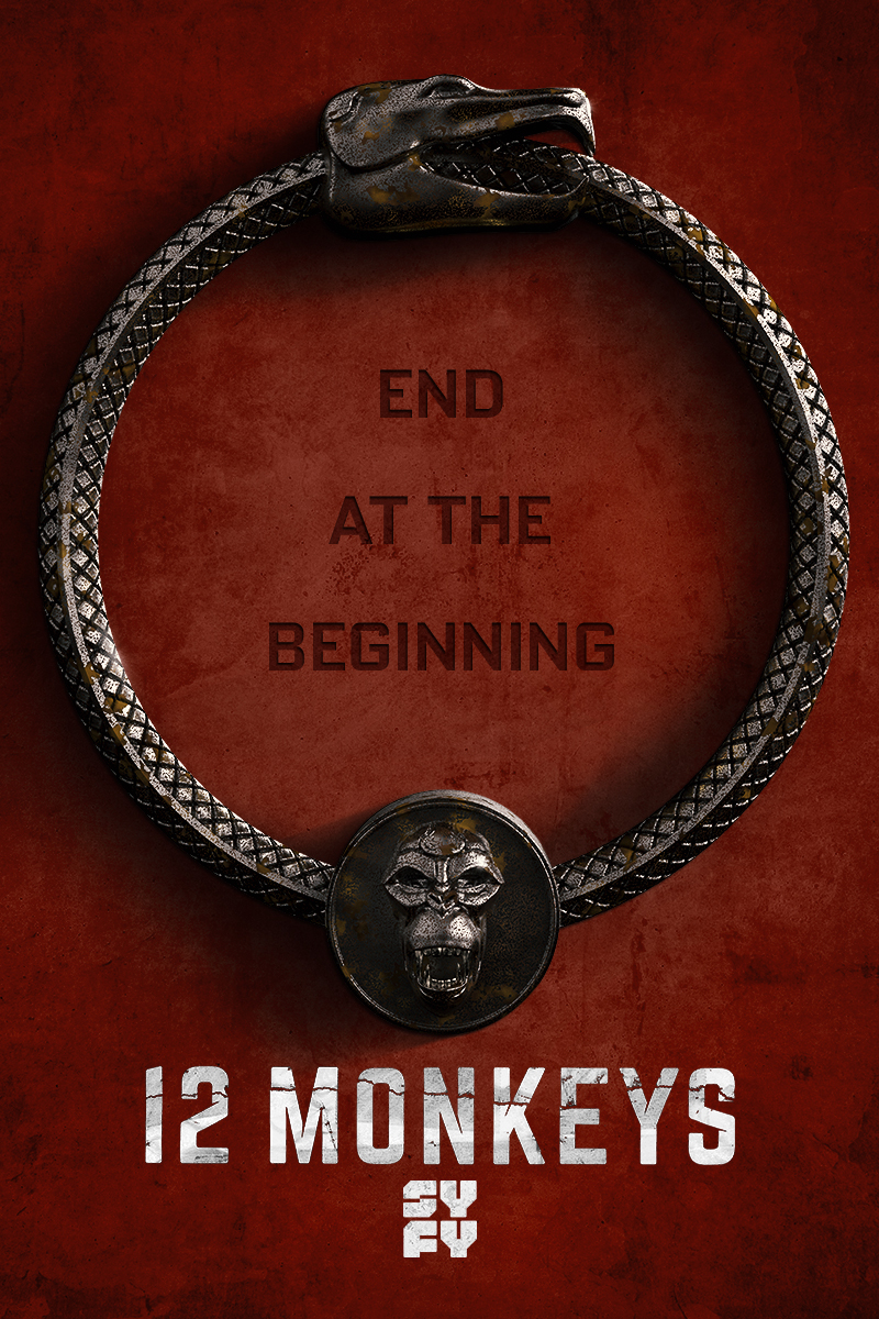 "cover design for ""12 Monkeys"""